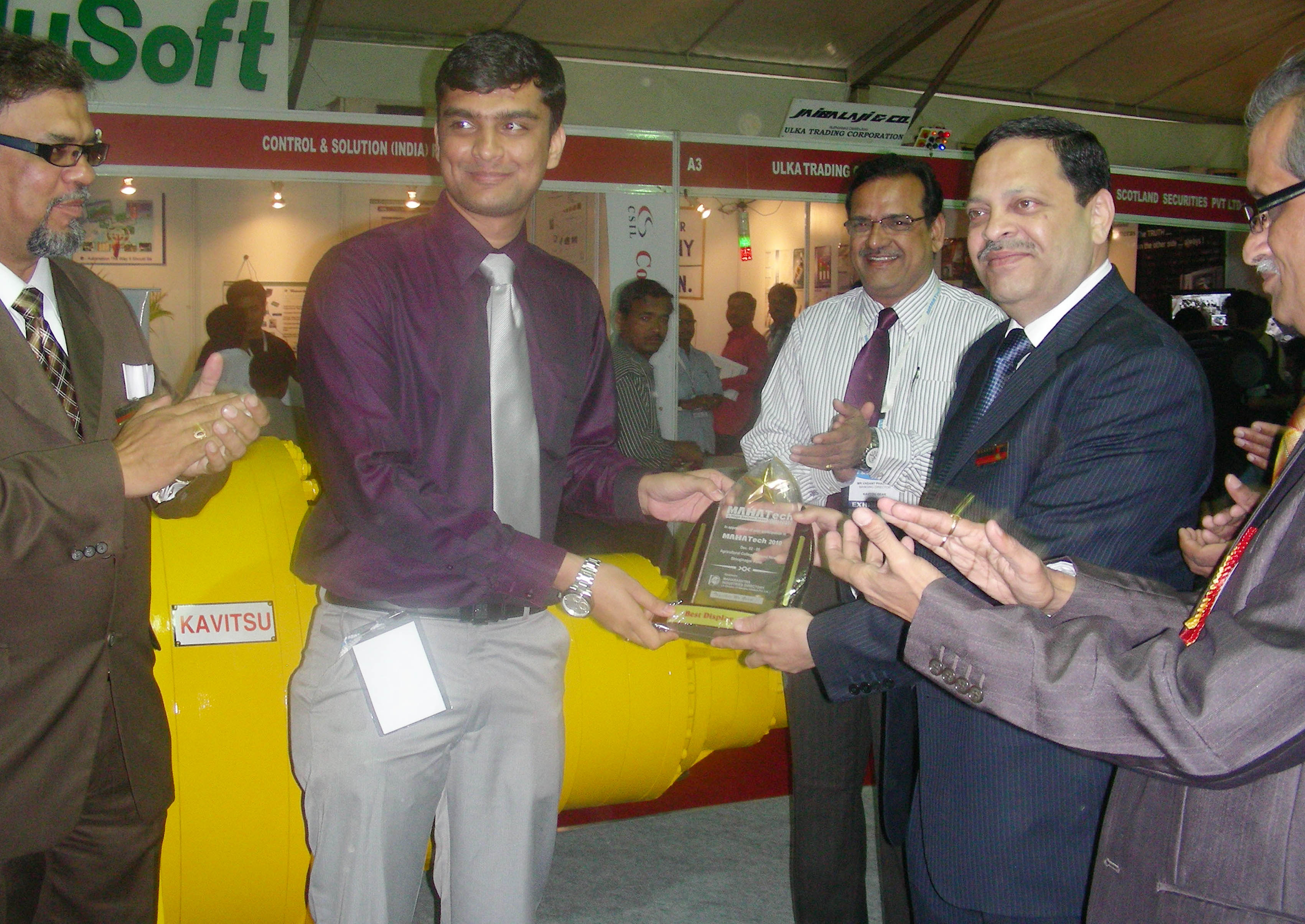 First Best Display Award in Mahatech 2010 Exhibition